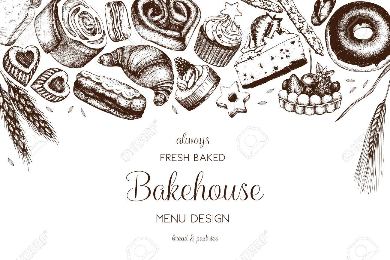 Hand drawn baking design - 80625045