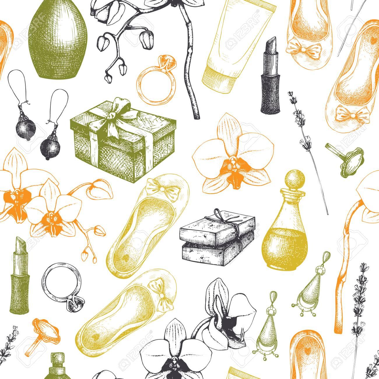 Sin Patrón Con Spa Dibujado A Mano Y Belleza De La Belleza Tarjeta De Felicitación O Diseño De La Invitación Productos Y Productos Aromáticos
