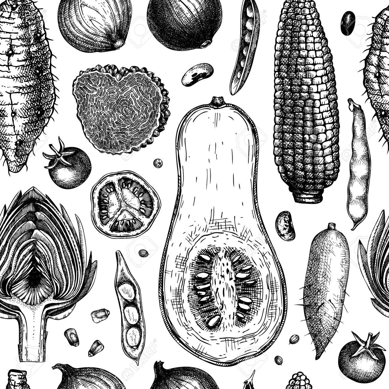 Seasonal vegetable pattern. - 170259437
