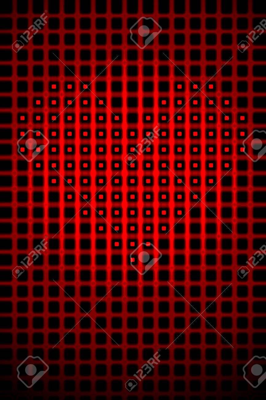 Digital heart shape romantic abstract high resolution background illustration. Stock Photo - 9561314