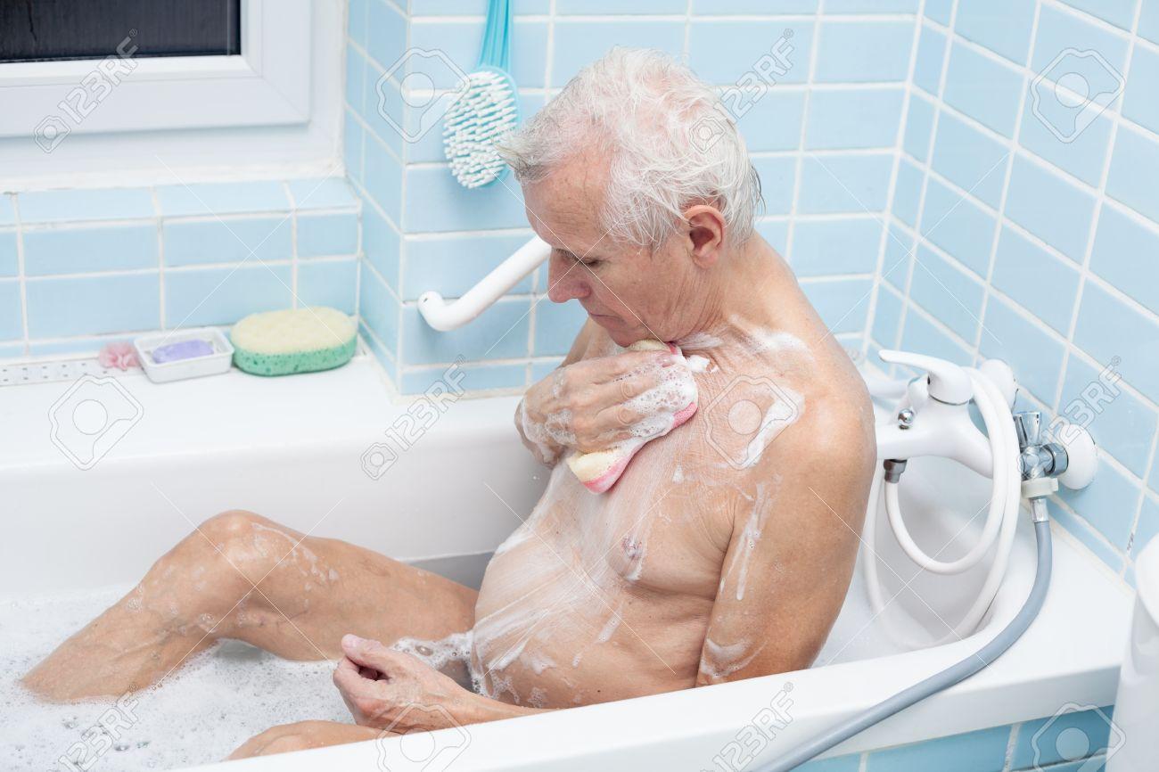 Man bathing cumshot photo 7