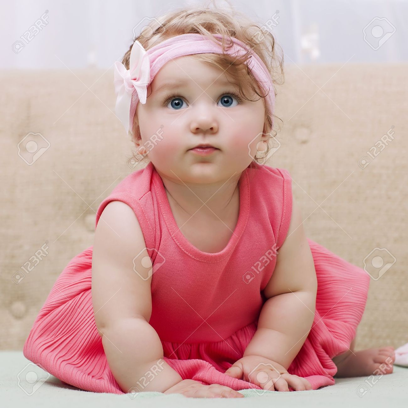 beautiful smiling cute baby stock photo, picture and royalty free