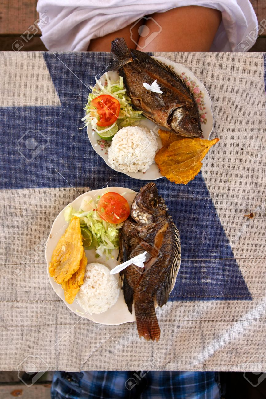 A simple but savory caribbean seafood lunch. Stock Photo - 10977795