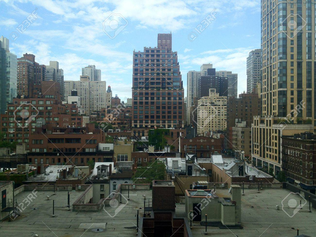 View over the roofs of East Midtown Manhattan in New York, NY, USA. Stock Photo - 19231186