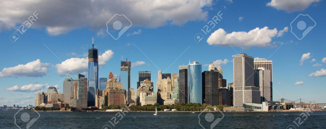 Southern Tip Of Manhattan's Financial District In New York, NY ...