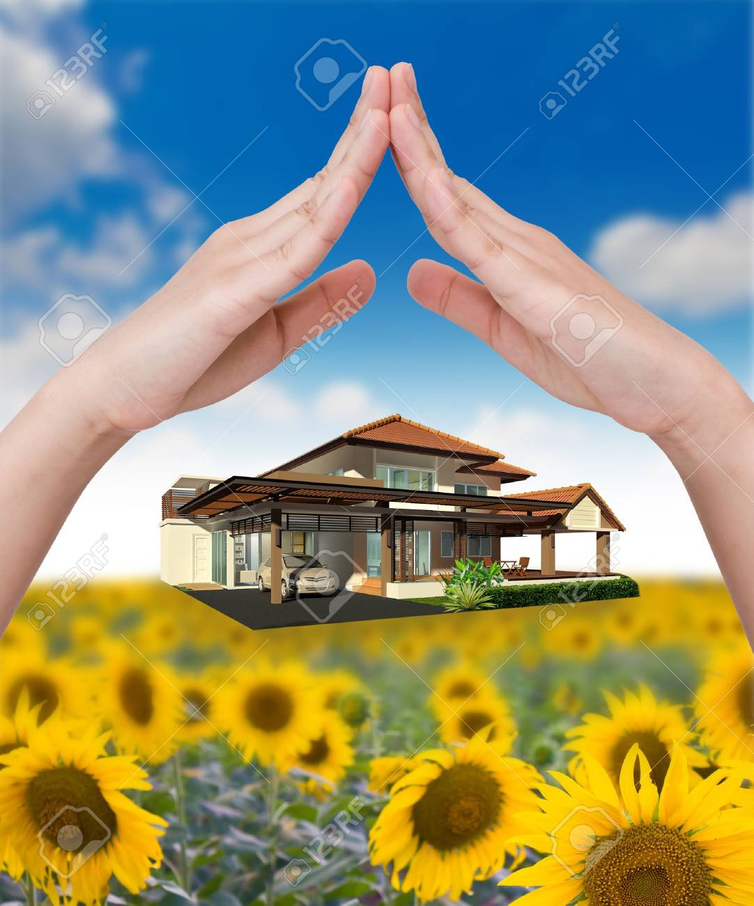 The house under hand Stock Photo - 10734499