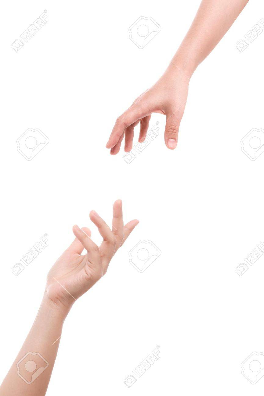 Two hands isolated on a white background. Stock Photo - 11863677