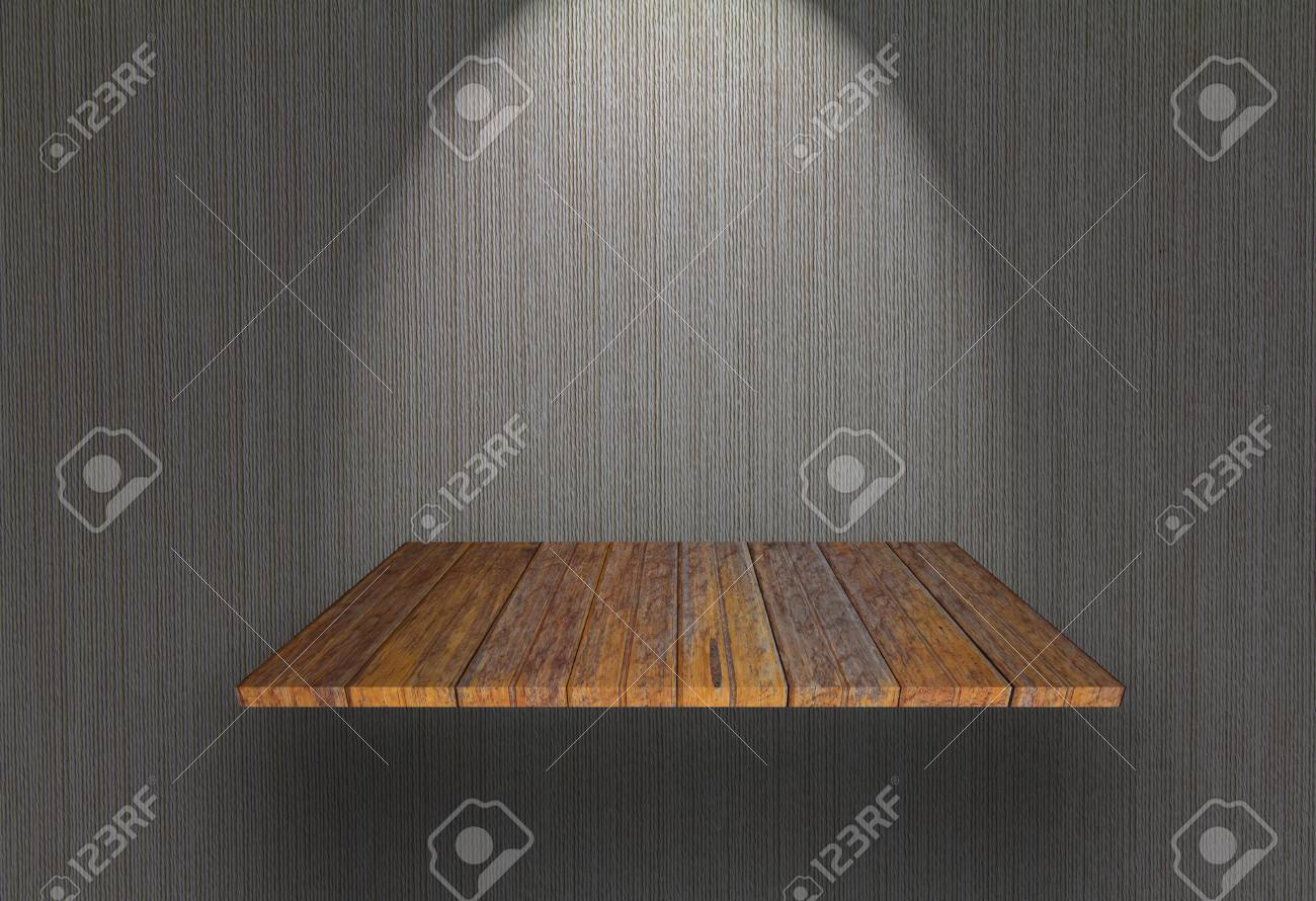 Empty bookshelf on the wall Stock Photo - 13624239
