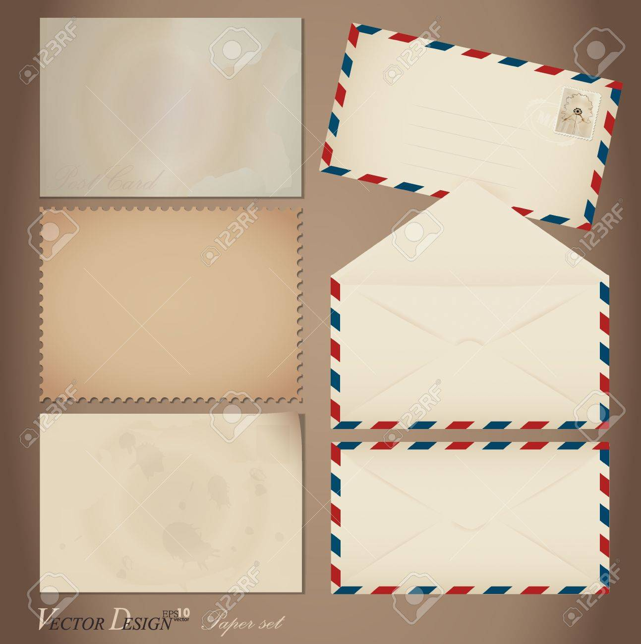 Vintage paper designs  various note papers, ready for your message Stock Vector - 14178109