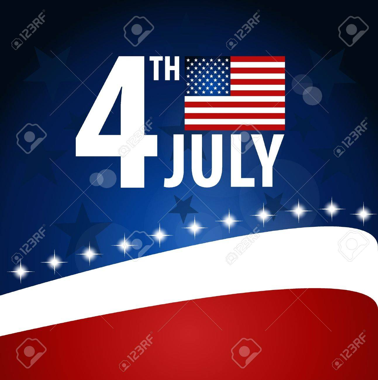 American Flag for Independence Day Stock Vector - 14178981