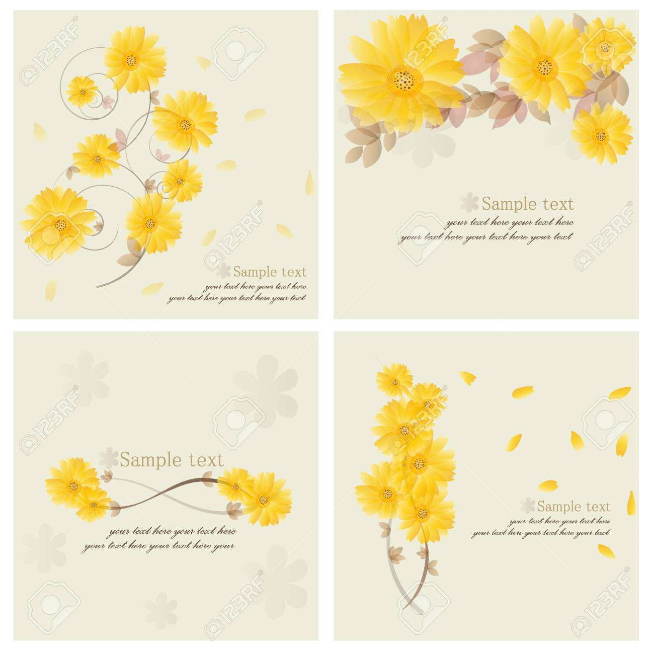 Vintage floral background - Daisies. Stock Vector - 14238328