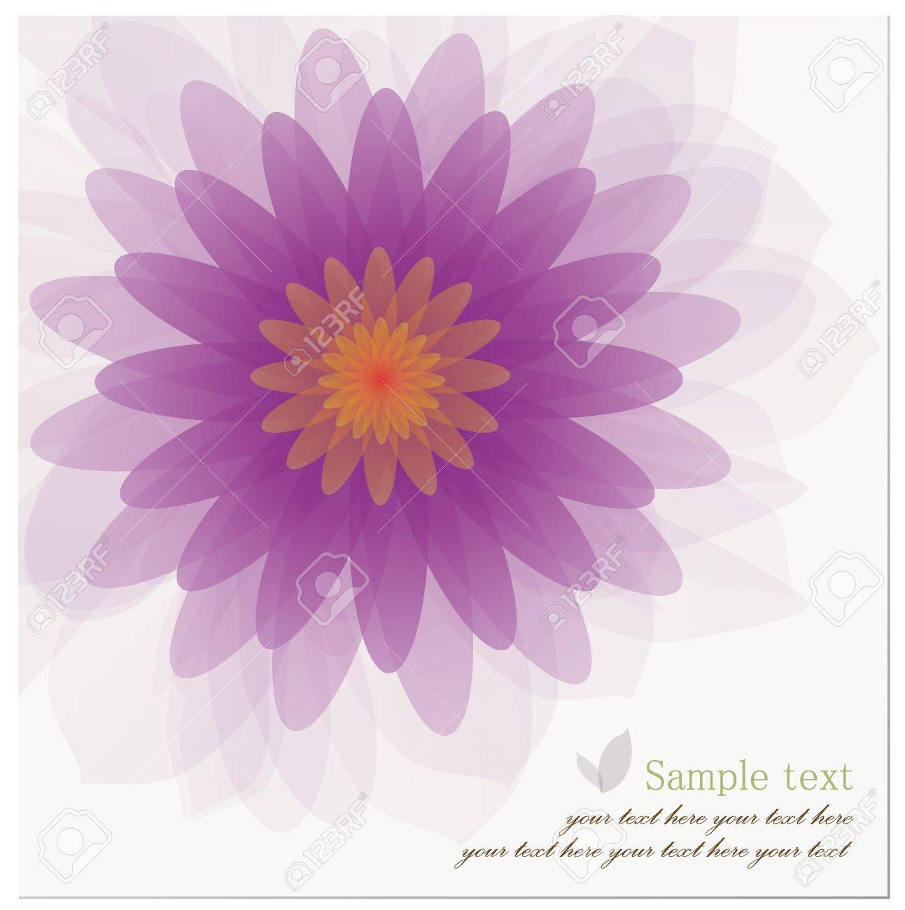 Abstract Background Of Beautiful Lotus Flower Royalty Free Cliparts