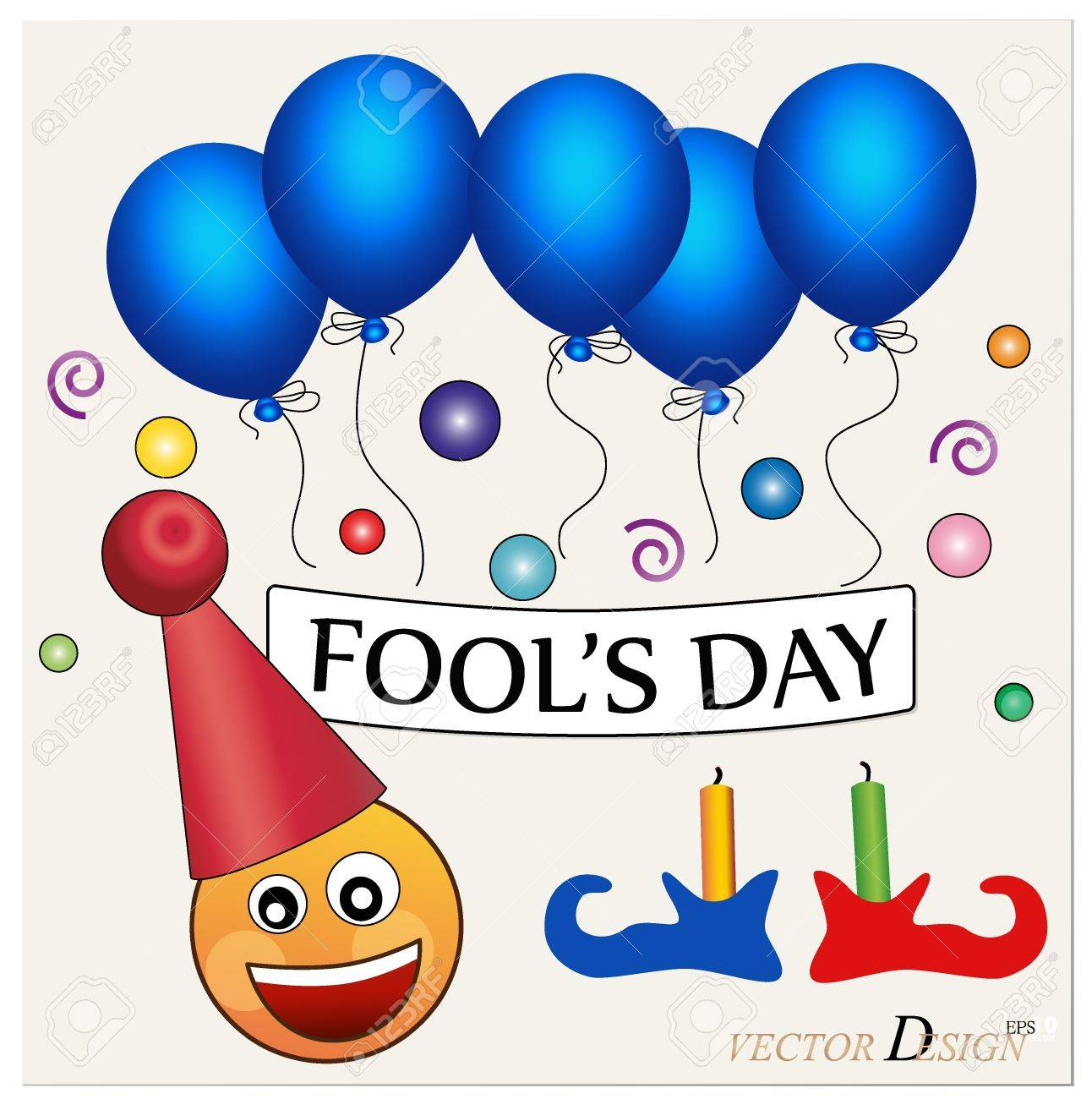 Fool's Day. Celebrating April Fools' Day. The Amusing Clown With ...