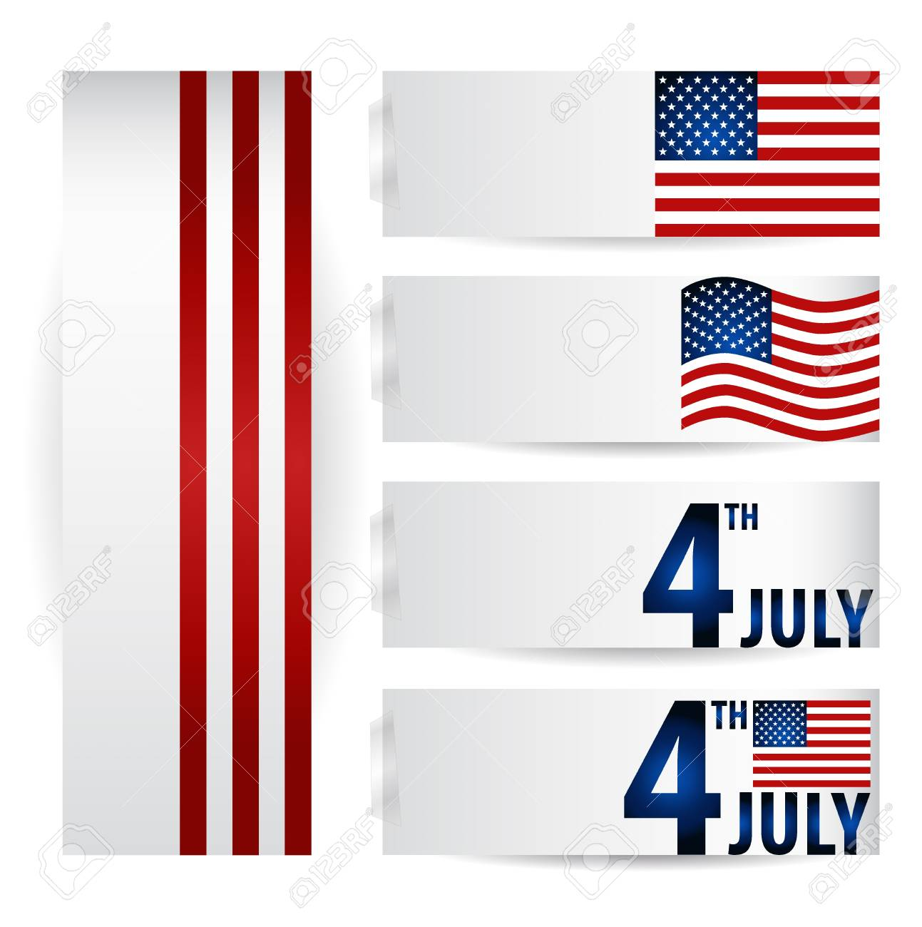American Flag for Independence Day. Stock Vector - 14238377