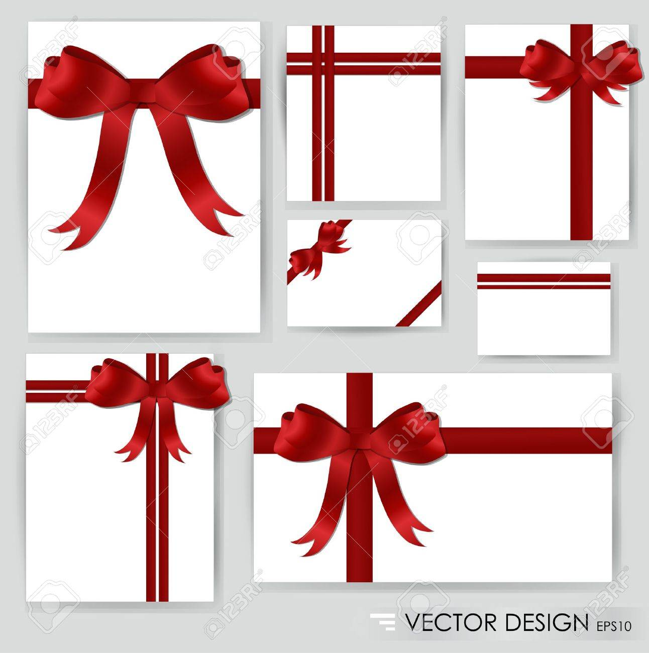 Big set of red gift bows with ribbons illustration royalty free big set of red gift bows with ribbons illustration stock vector 14850616 negle Gallery
