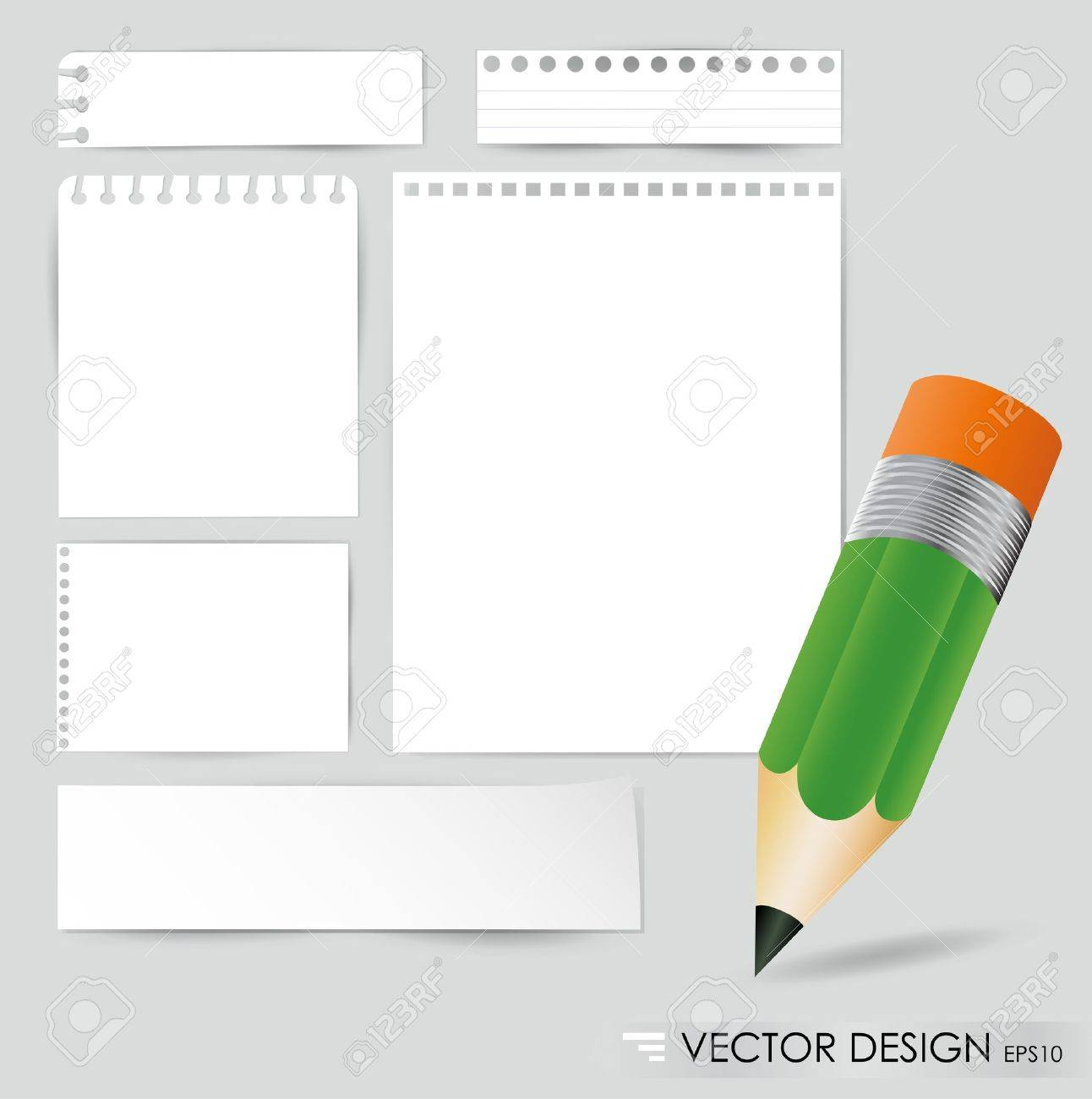 Pencil and white paper, ready for your message illustration Stock Vector - 14850759