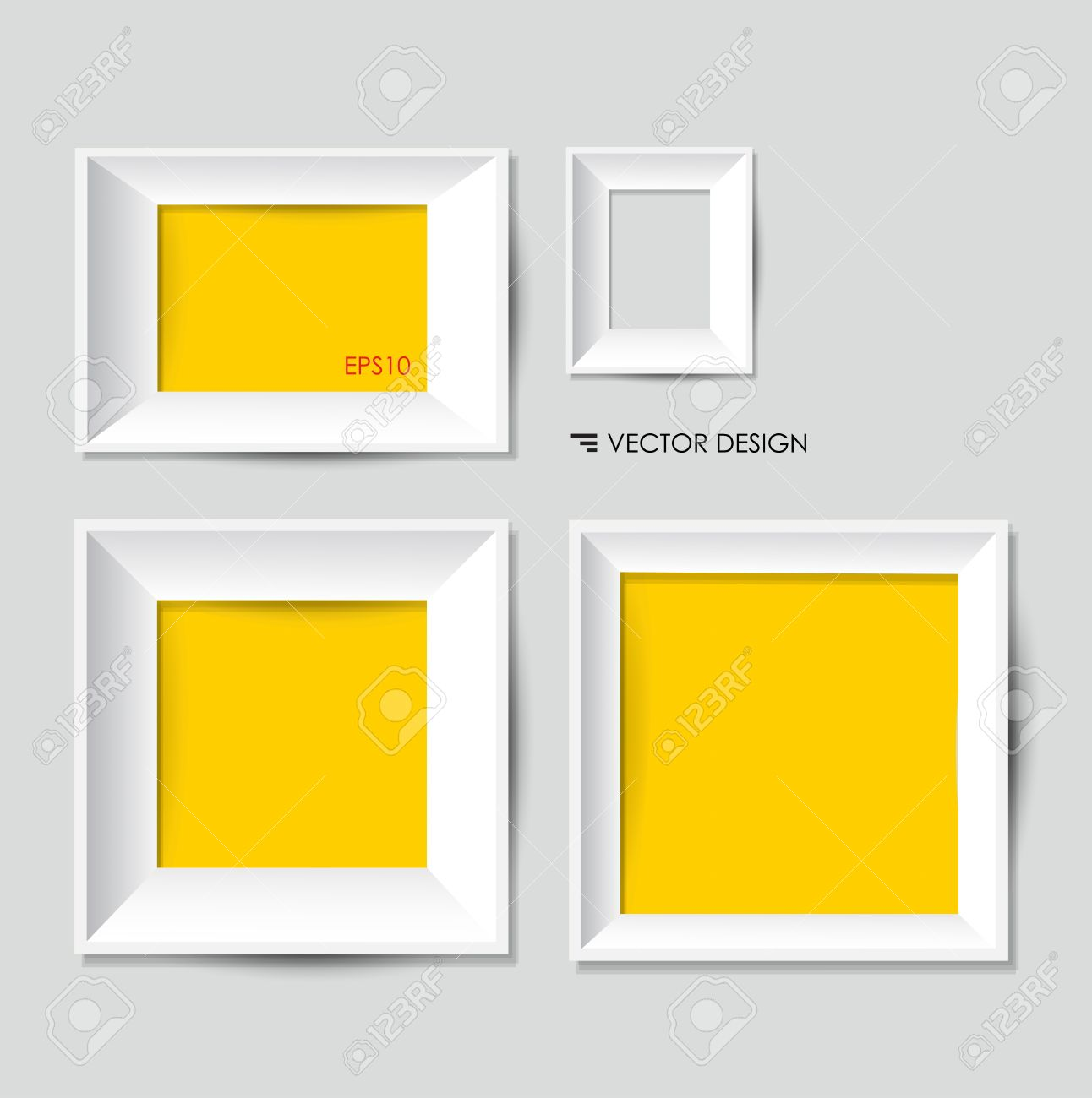 modern white picture frames. White Modern Frames On The Wall Stock Vector - 15499534 Picture