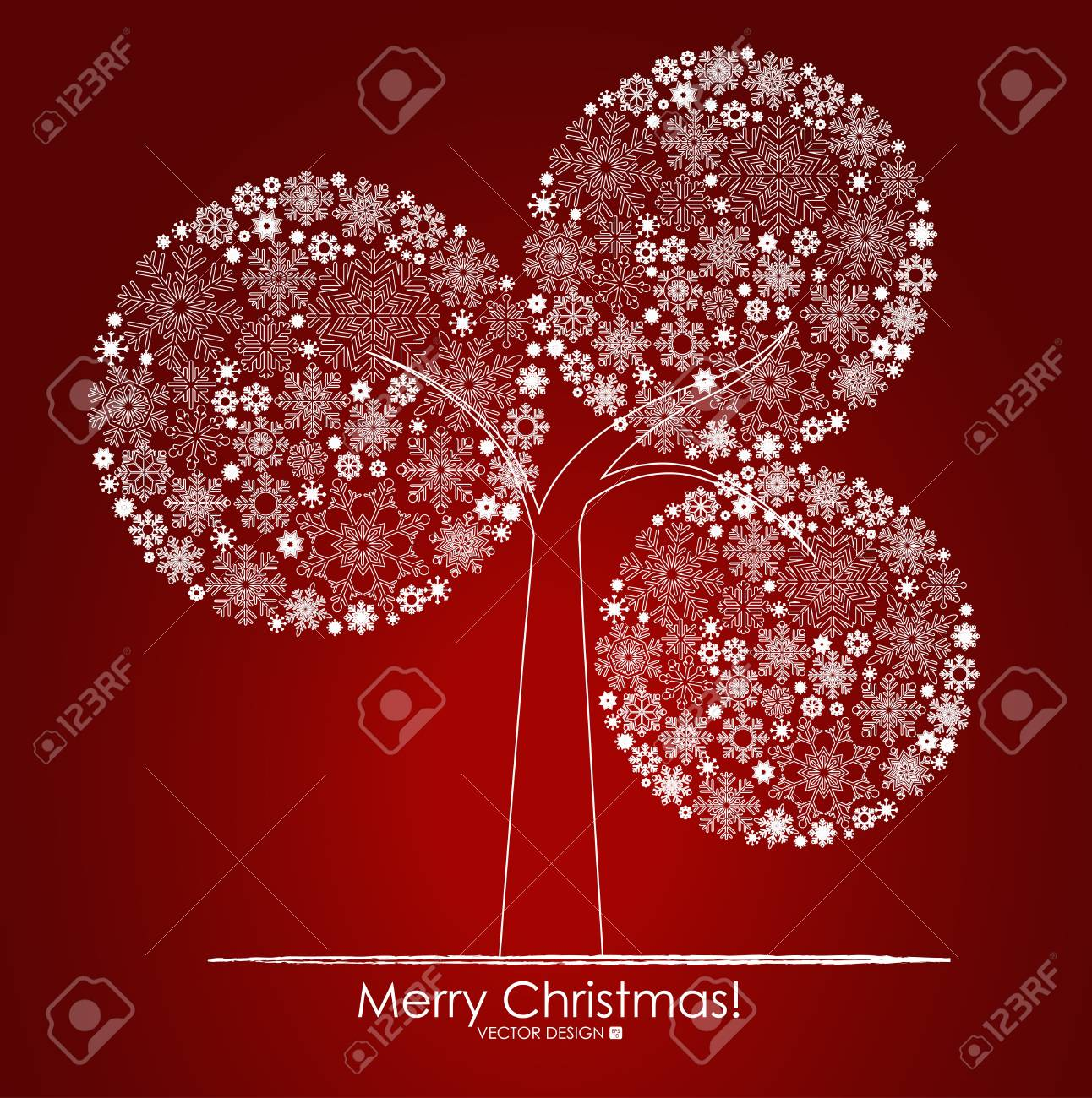 Christmas background with Christmas tree, vector illustration Stock Vector - 16111310