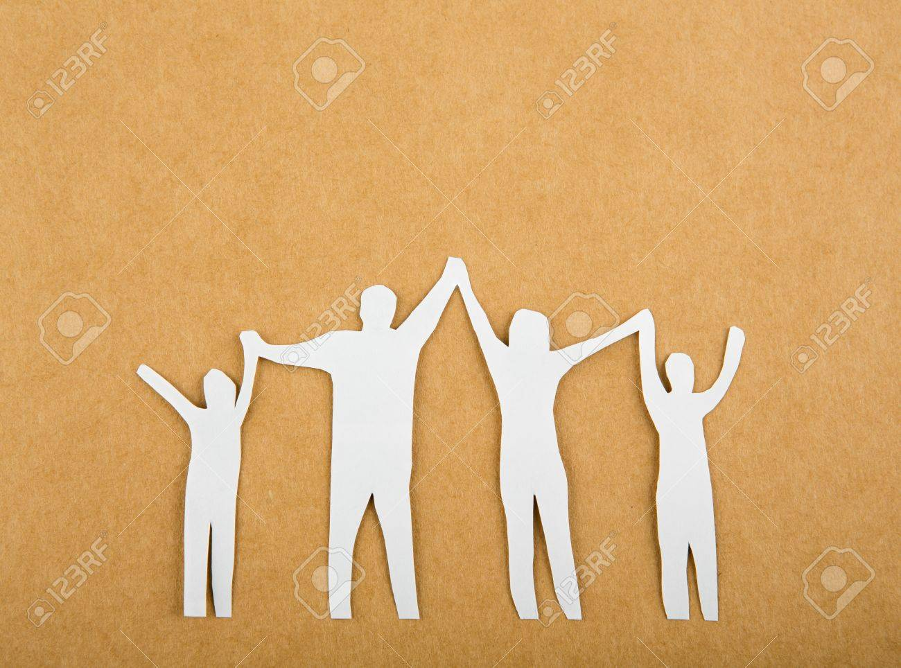 Paper cut of Family Stock Photo - 16526320