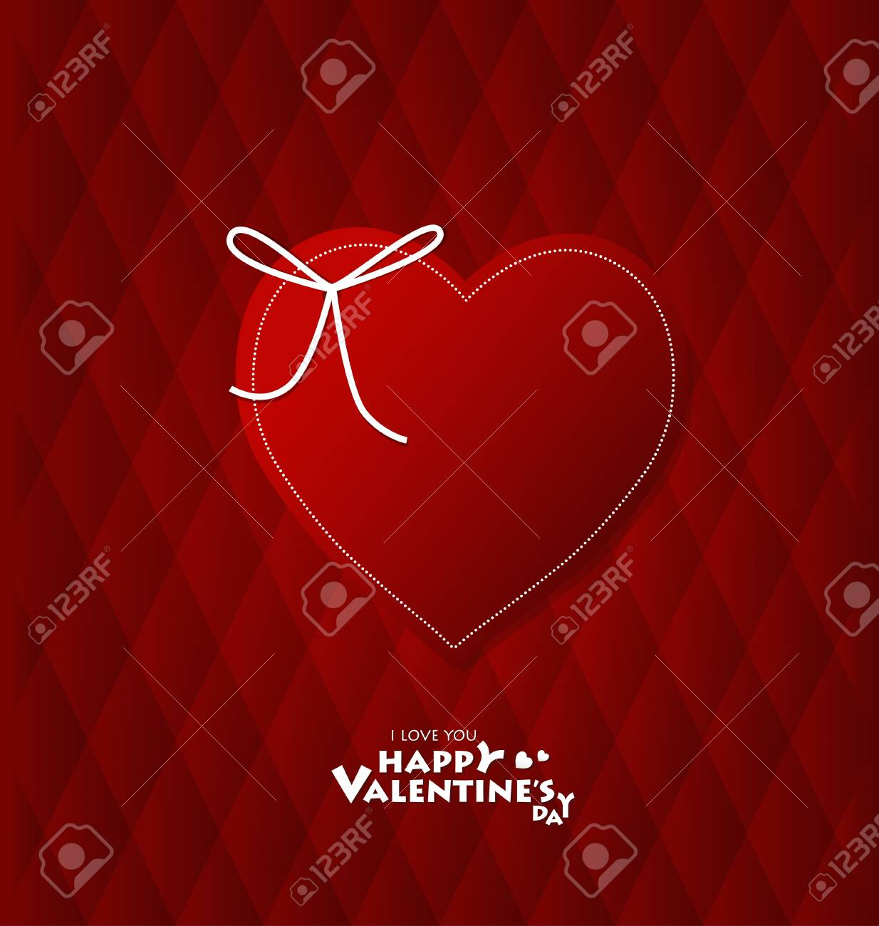 Valentine's day card with Heart Paper. Vector illustration Stock Vector - 16770694