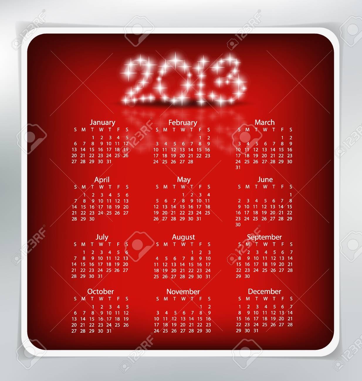Simple 2013 year calendar. Stock Vector - 17101802