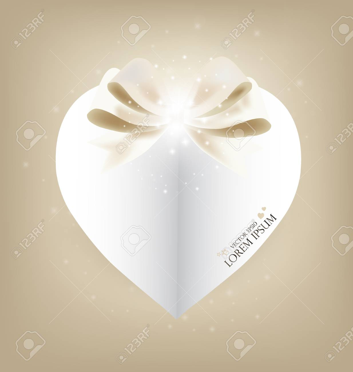Valentine's day card with Heart Paper. Vector illustration. Stock Vector - 17350565