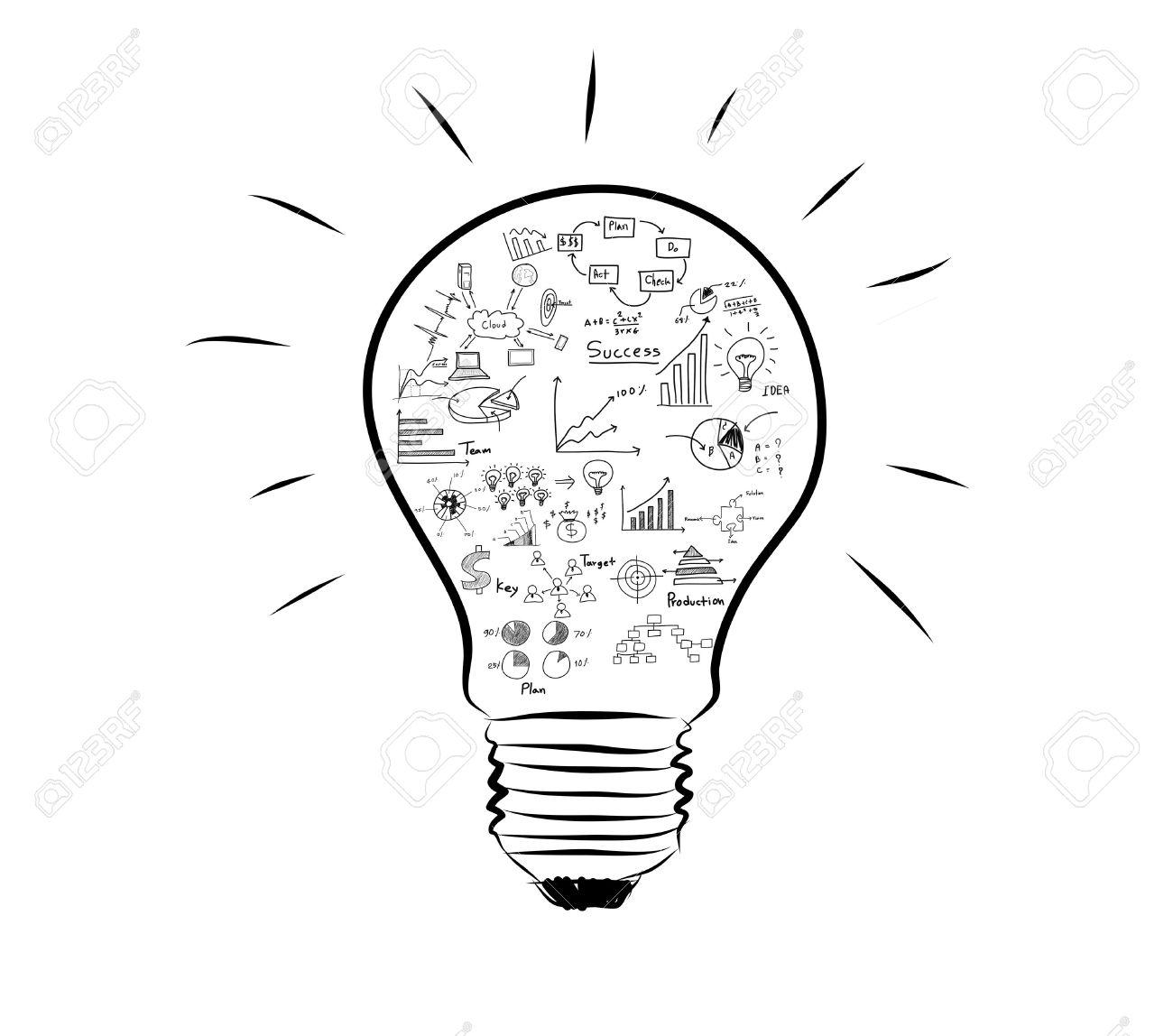 Ampoule Avec Le Graphique De Dessin A L Interieur Banque D Images Et