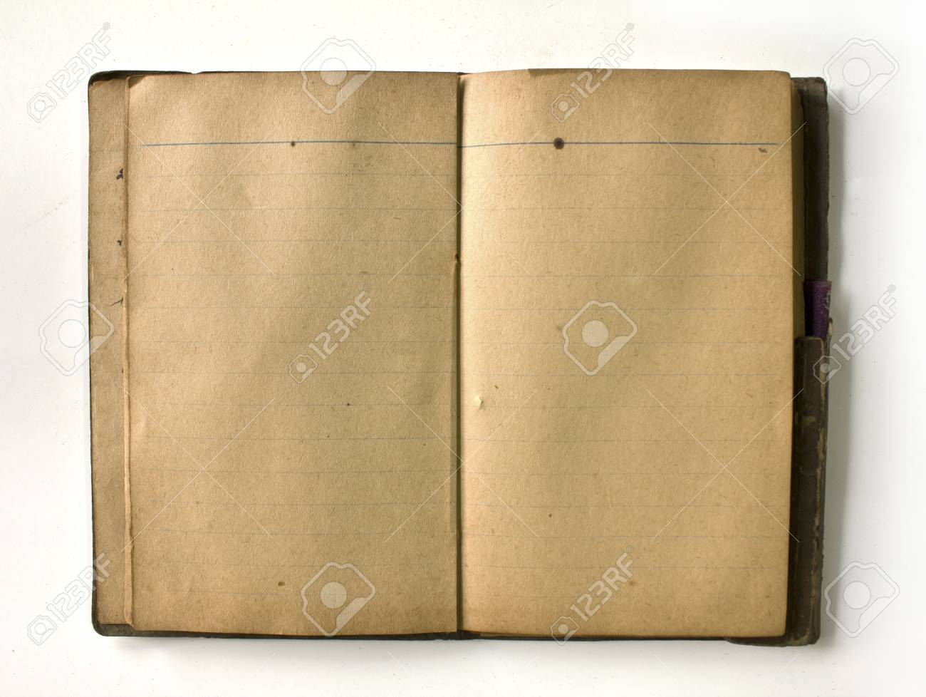 Old Book Livre Ancien Isole Sur Fond Blanc
