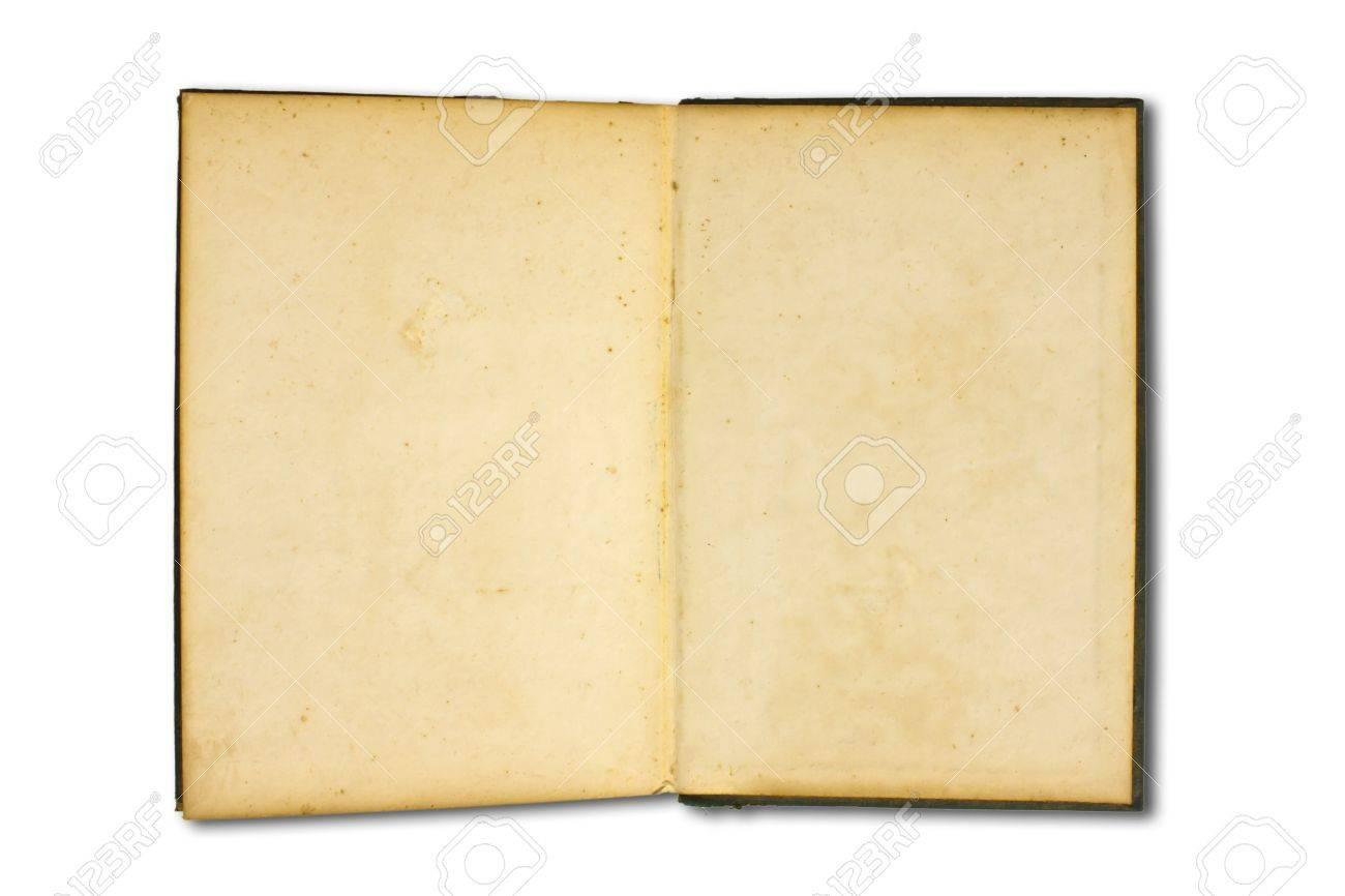Vieux Livre Livre Ancien Isole Sur Fond Blanc