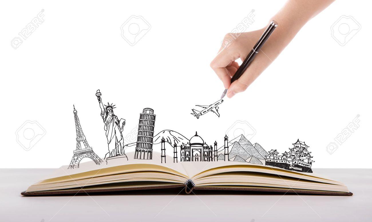 Book of travel (Japan,France,Italy,New York,India,egypt) Stock Photo - 21831840