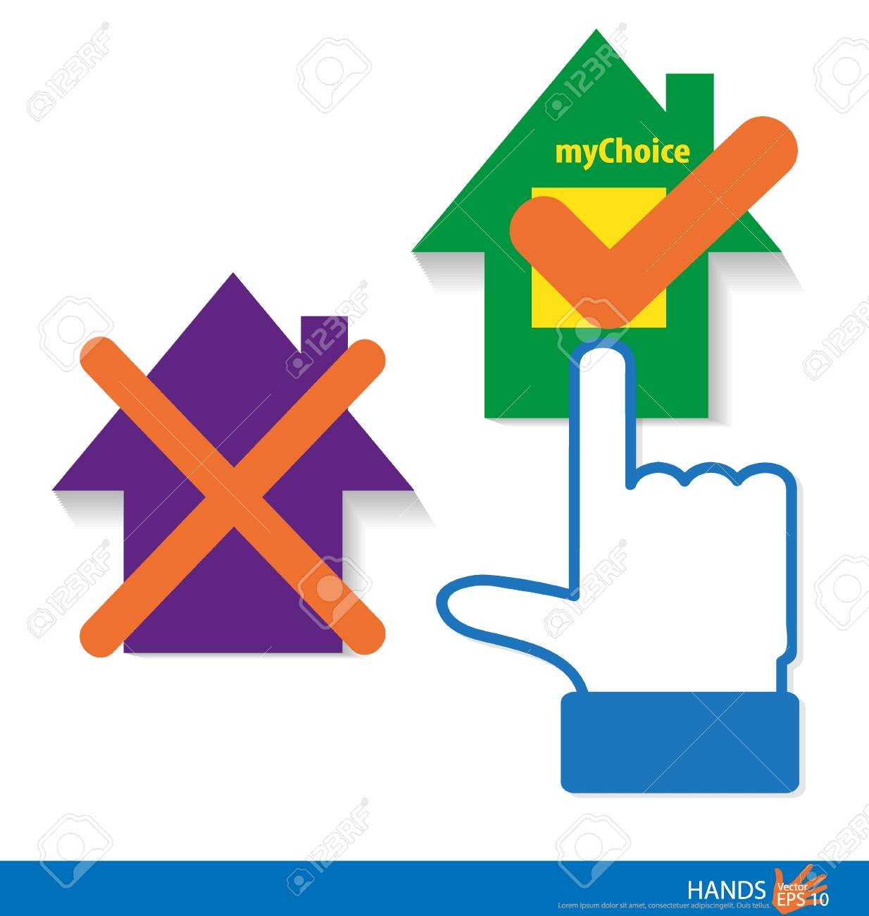My Choice - My House. Vector illustration. Stock Vector - 22690417