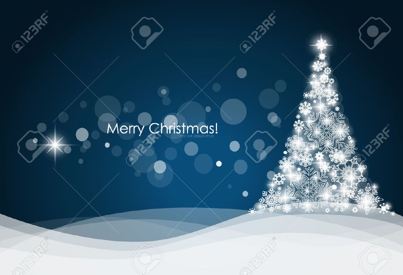 Christmas background with Christmas tree, vector illustration. Stock Vector - 23351037