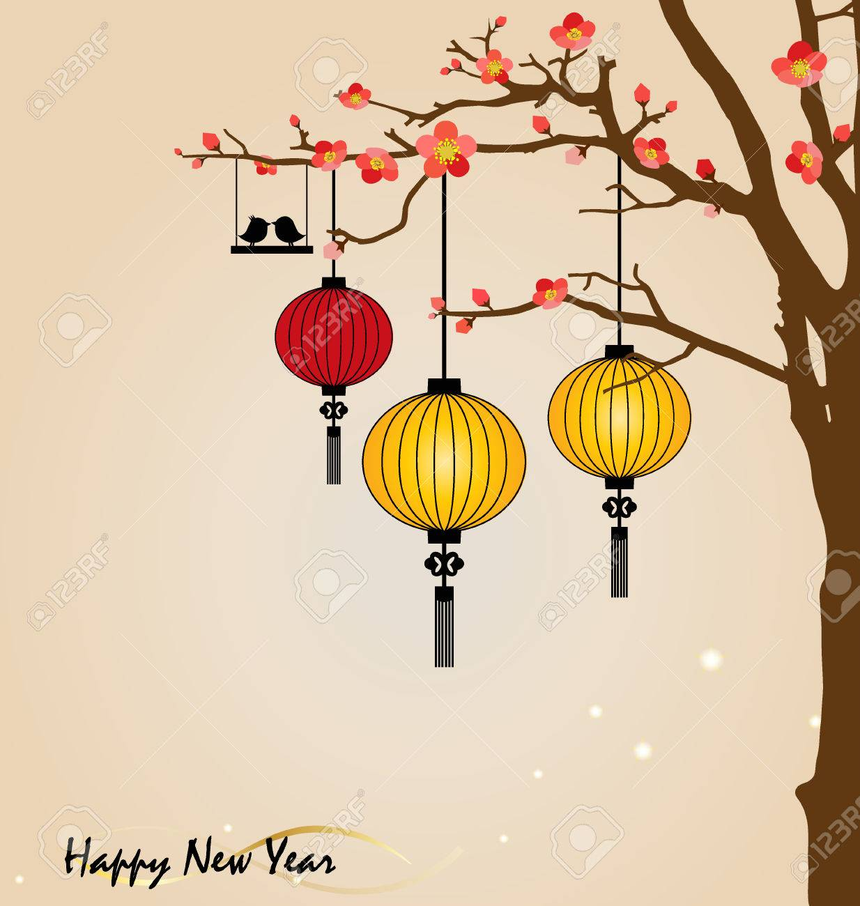 Big Traditional Chinese Lanterns Will Bring Good Luck And Peace Royalty Free Cliparts Vectors And Stock Illustration Image 25209704