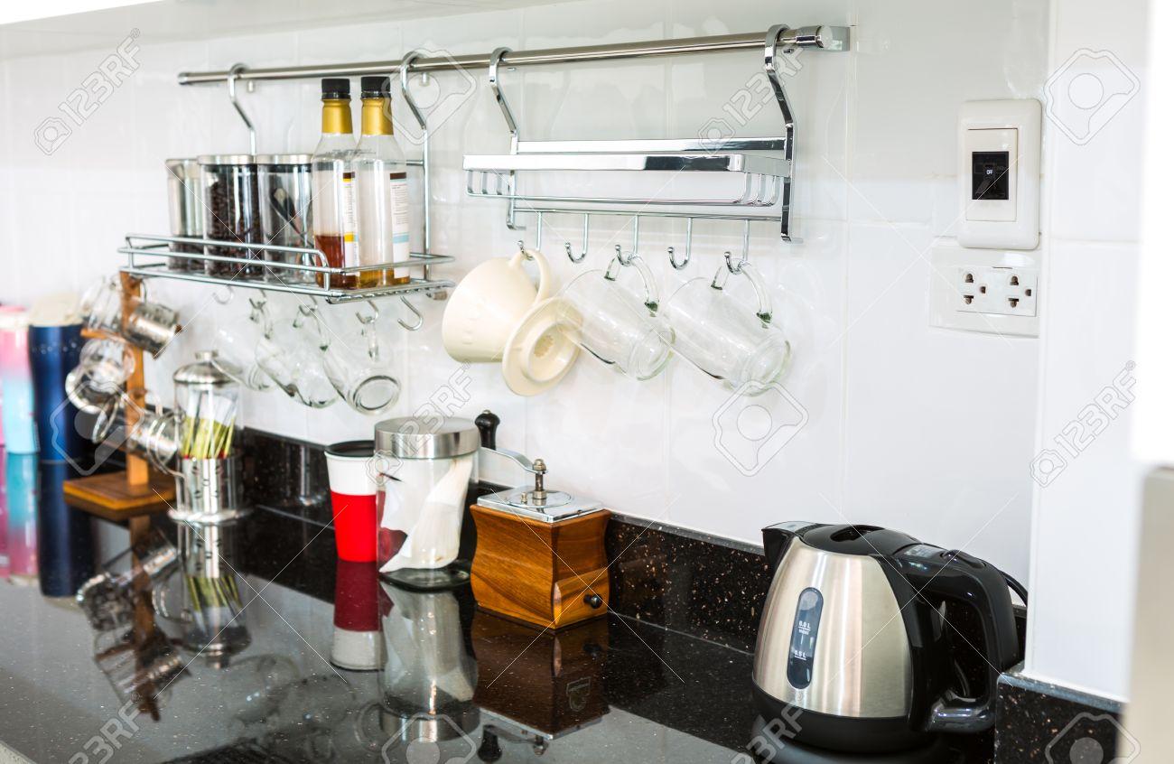 Kuchenschranke Mit Kaffee Ecke Im Modernen Haus Wohnzimmer