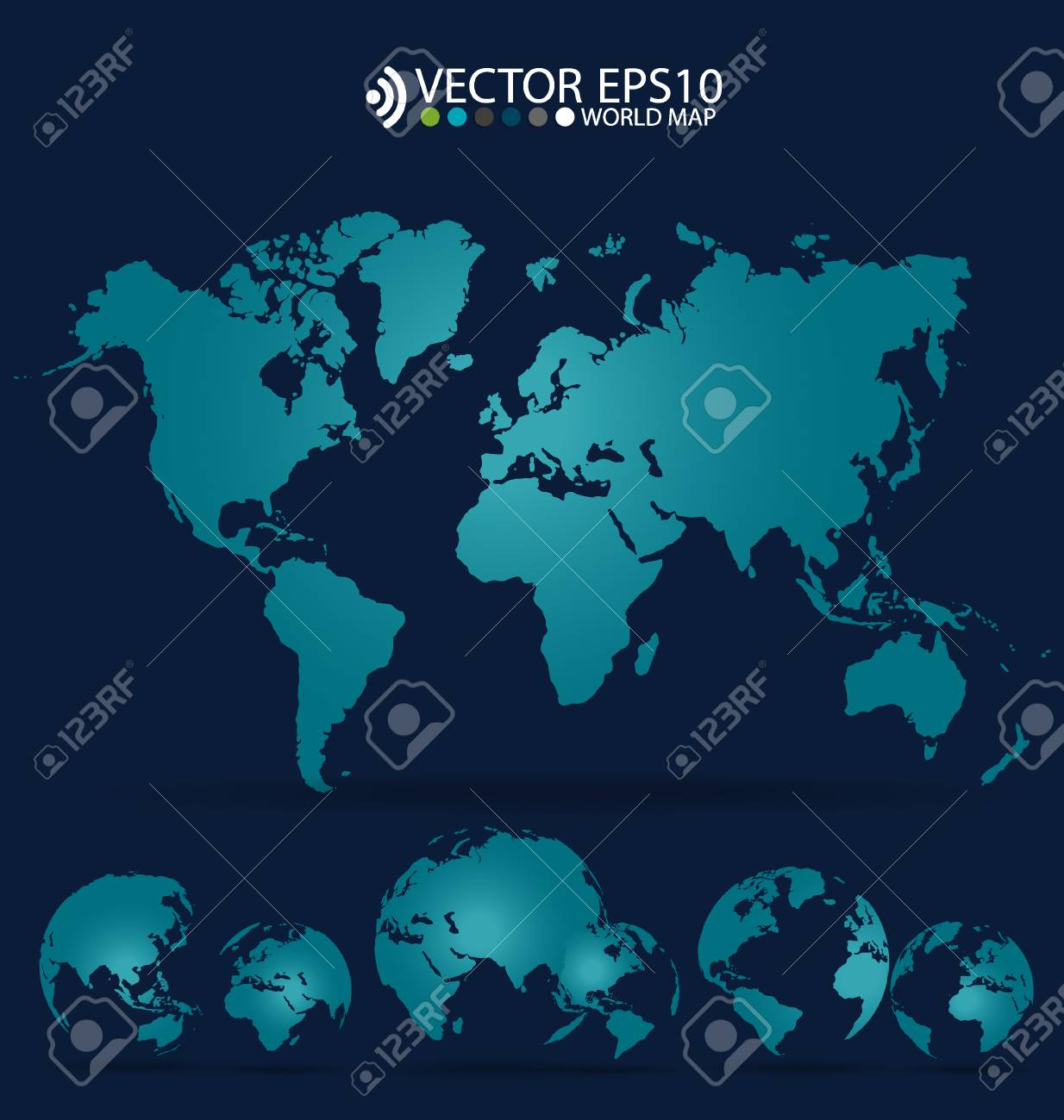 modern world map design vector illustration stock vector 31873289