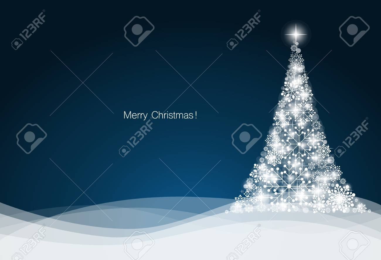 Christmas background with Christmas tree, vector illustration. - 34259597
