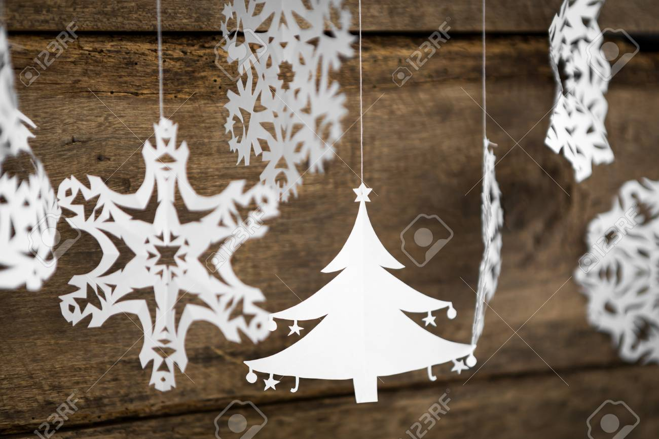 Christmas Decorations Snowflake Christmas Tree Paper Hanging
