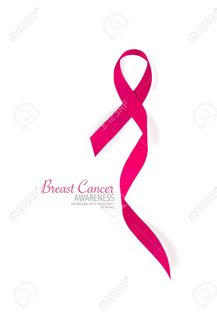 breast cancer awareness pink ribbon vector illustration royalty rh 123rf com pink cancer ribbon vector pink ribbon vector free