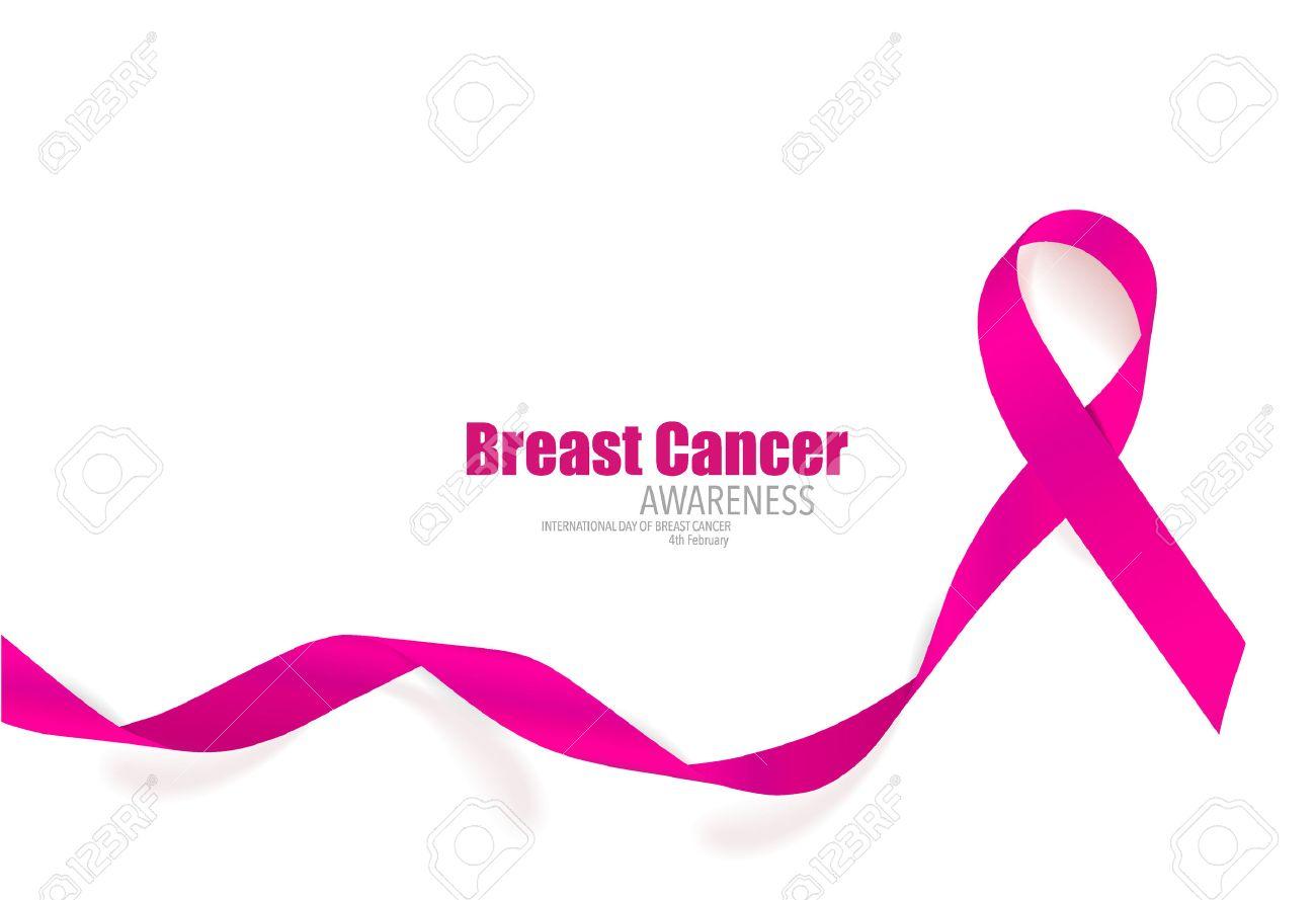 breast cancer awareness pink ribbon vector illustration royalty rh 123rf com pink ribbon vector transparent pink ribbon vector art