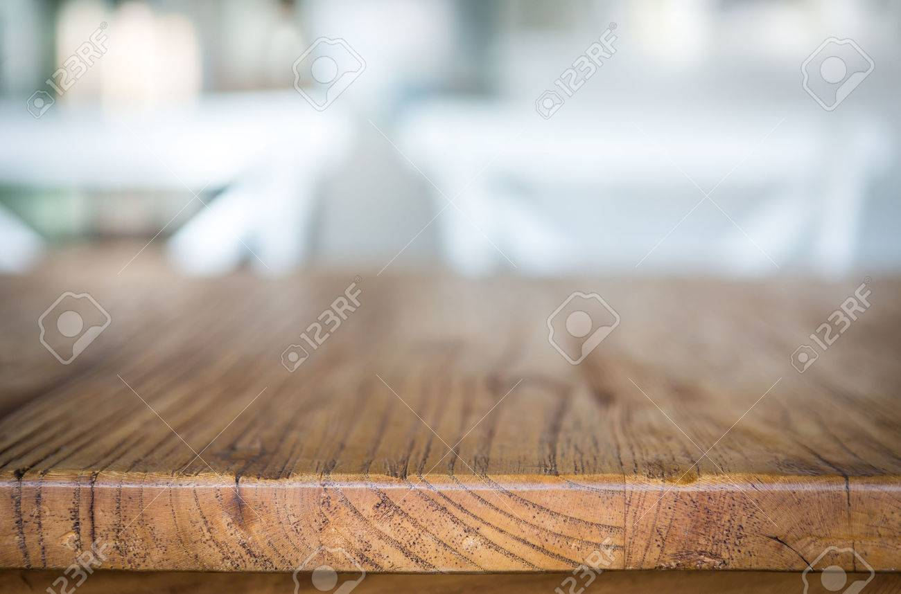 Wood table at restaurant - 36193186