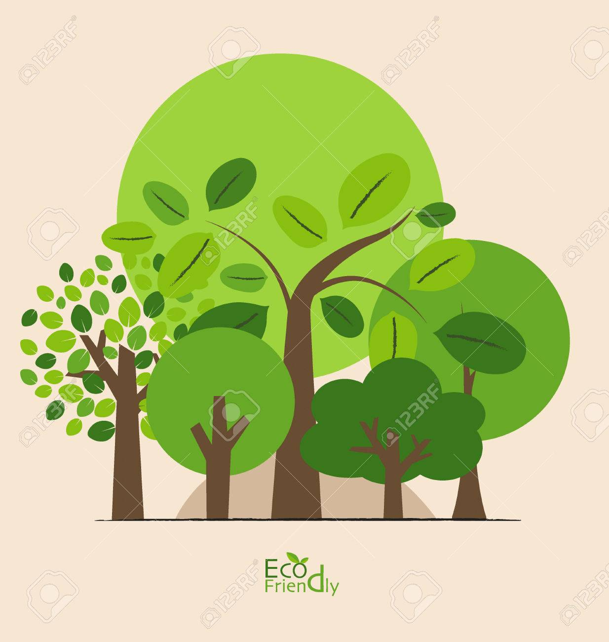 Abstract trees. Vector illustration. - 38122406