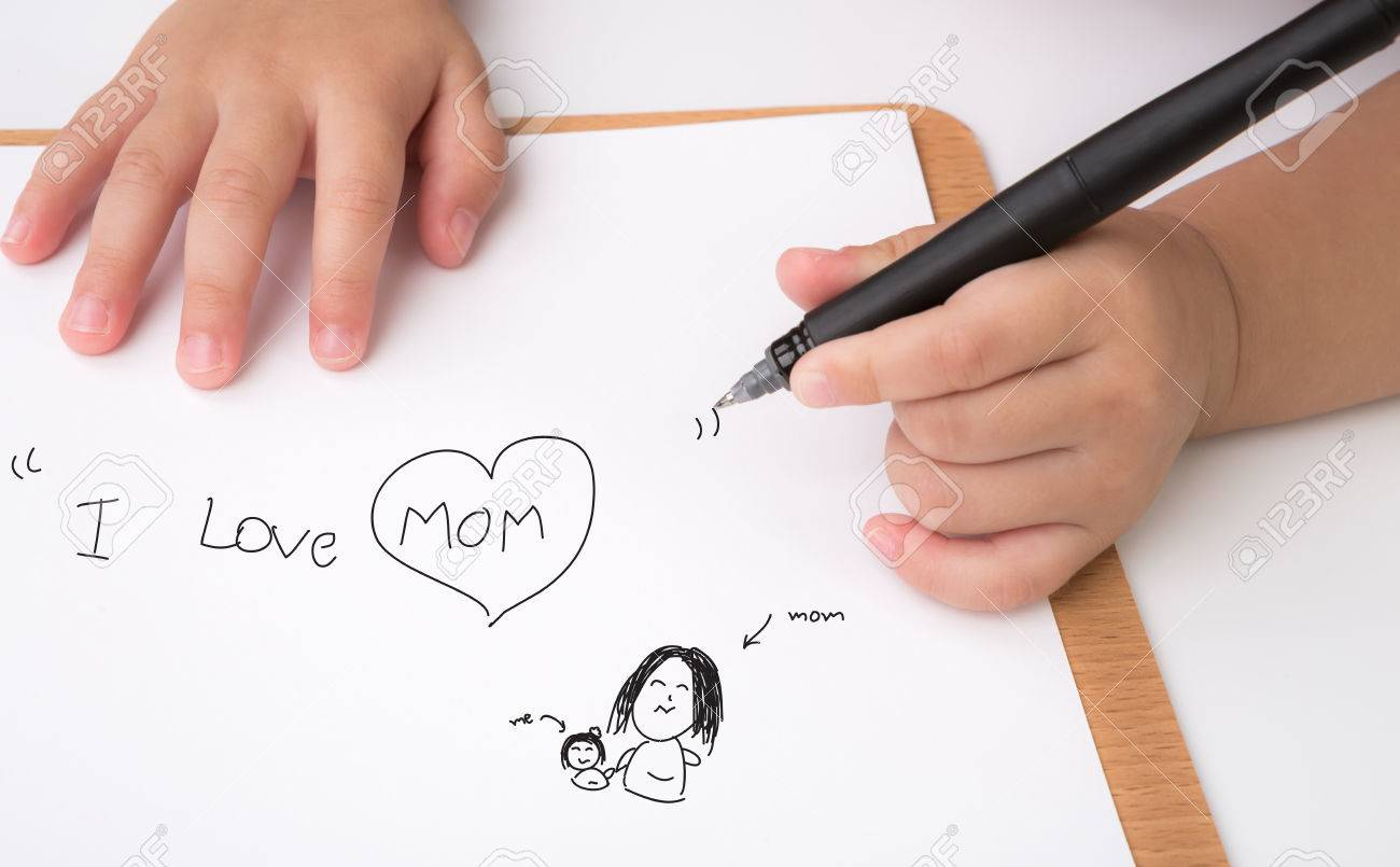 Child writing paper