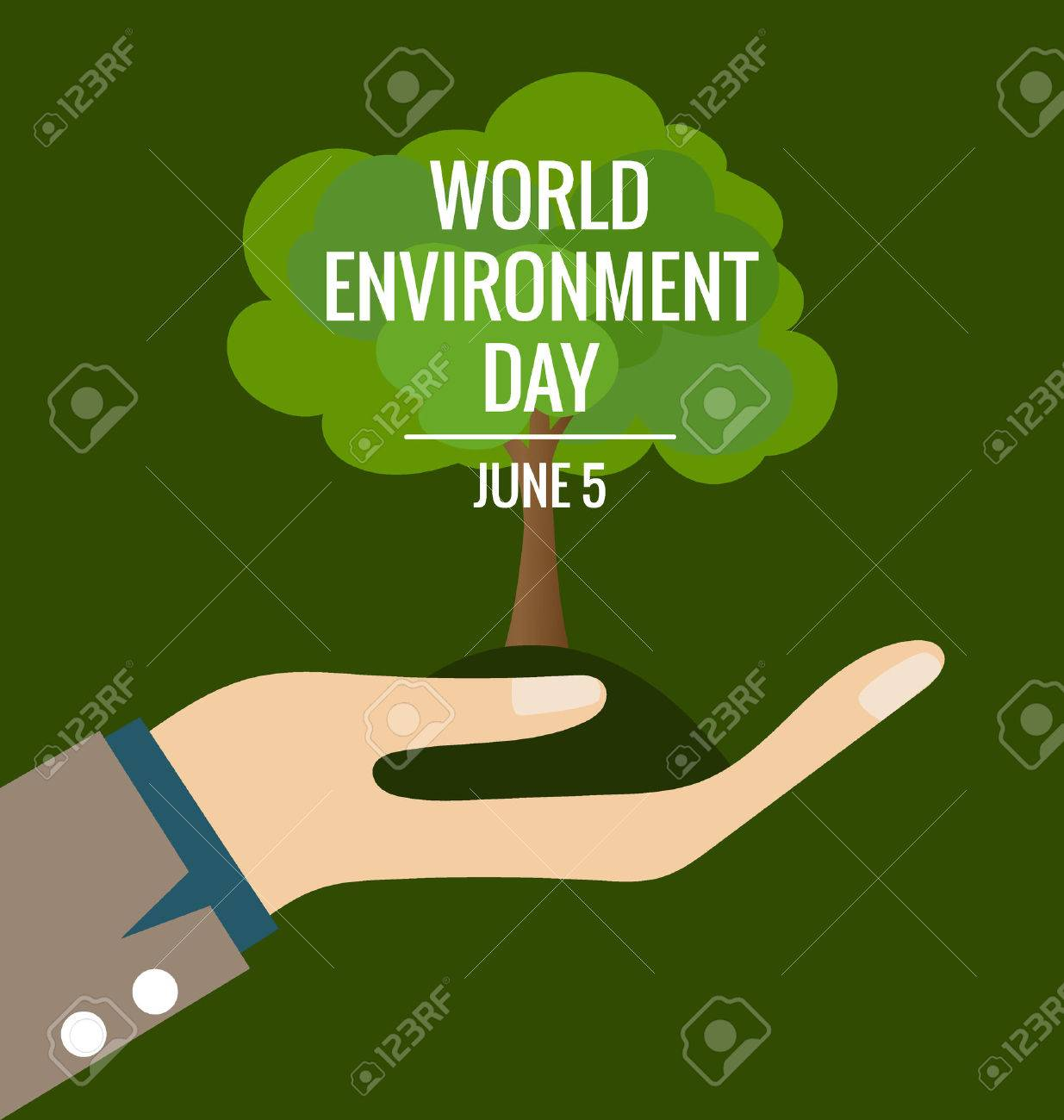 World environment day concept, Hands with tree. Vector illustration. - 40878269