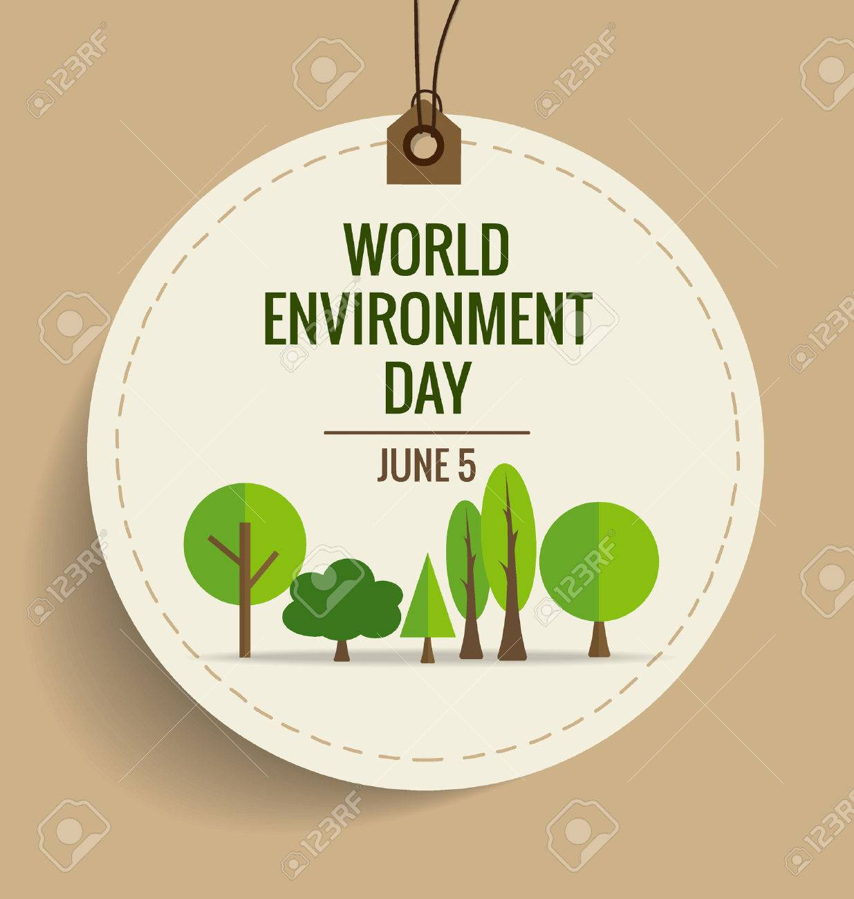 Nature banner. World environment day concept. Vector illustration. - 40878346