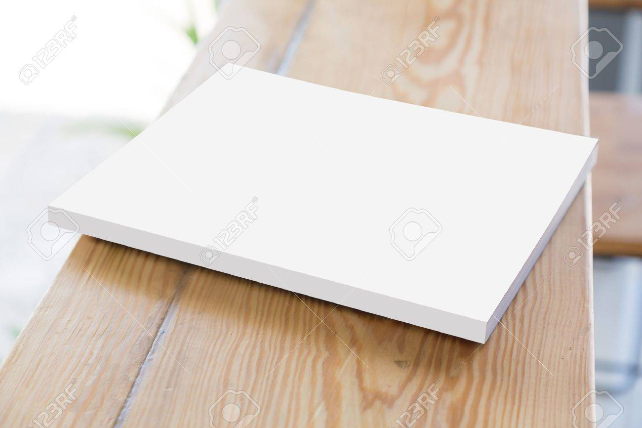 open diary or photo album book on old wooden table - 41520693