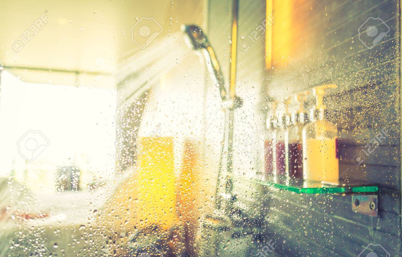 Shower while running water ( Filtered image processed vintage effect. ) - 43313448