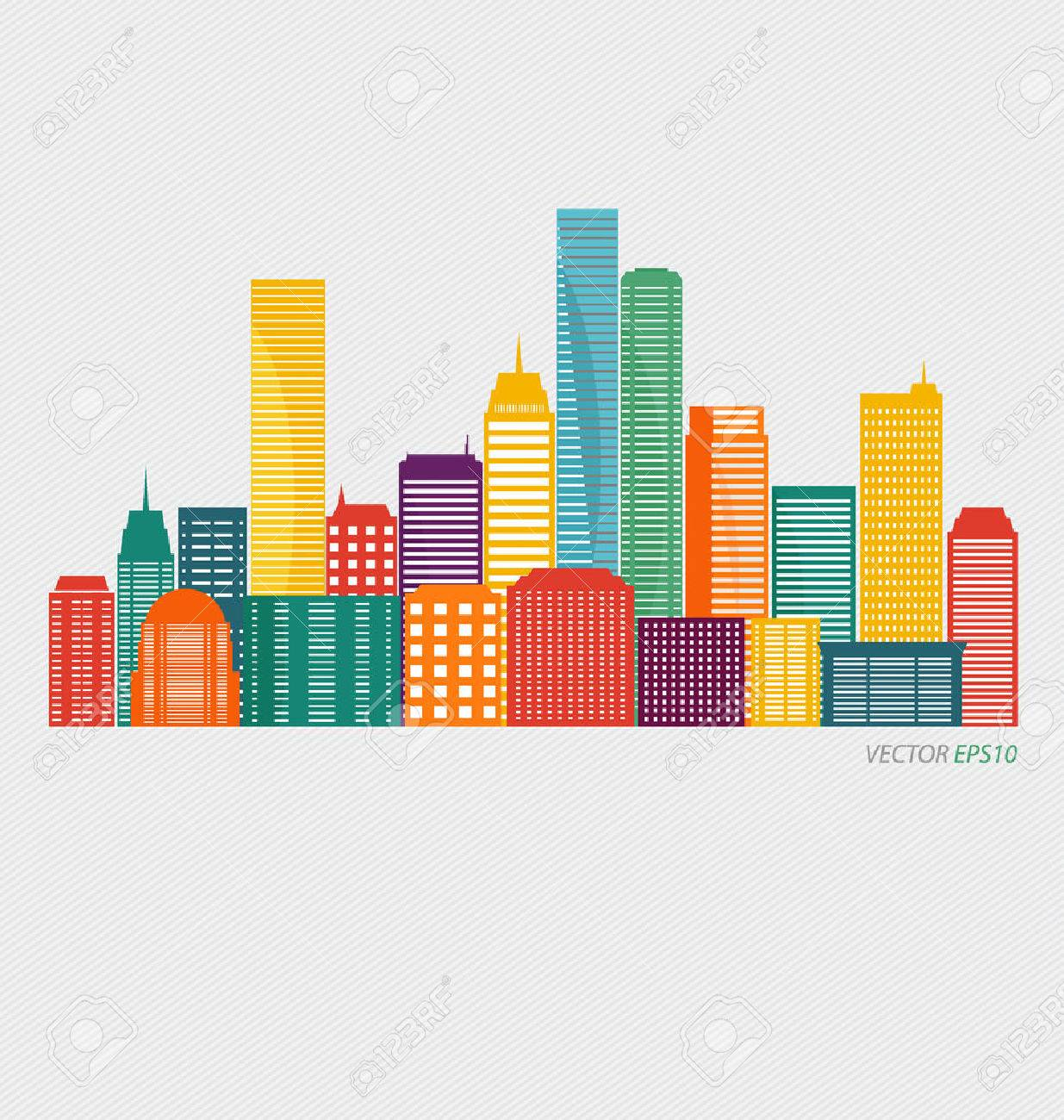 Creative building design template, for your company, vector illustration - 44306058
