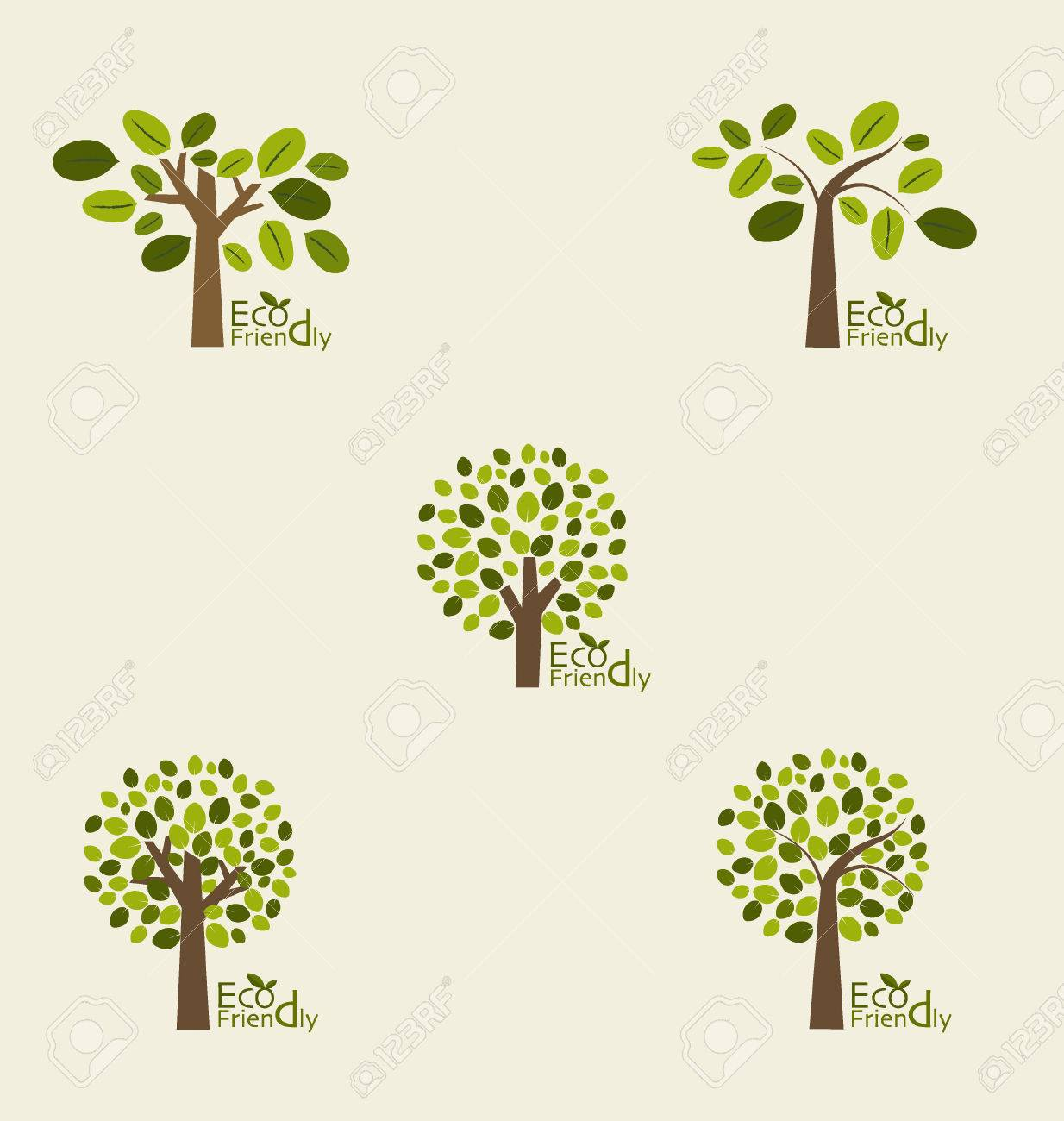 Abstract trees. Vector illustration. - 44864897