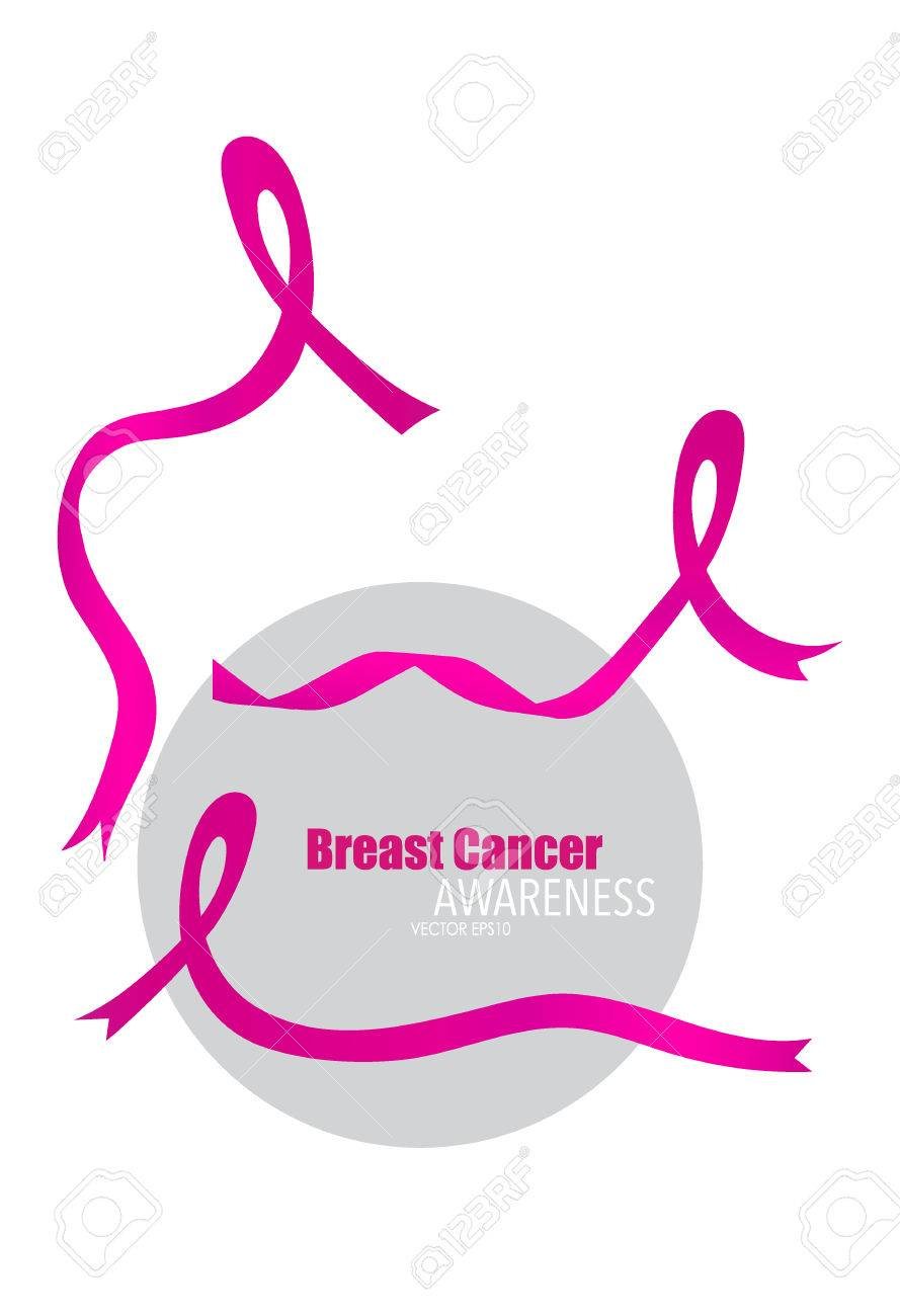 breast cancer awareness pink ribbon vector illustration royalty rh 123rf com