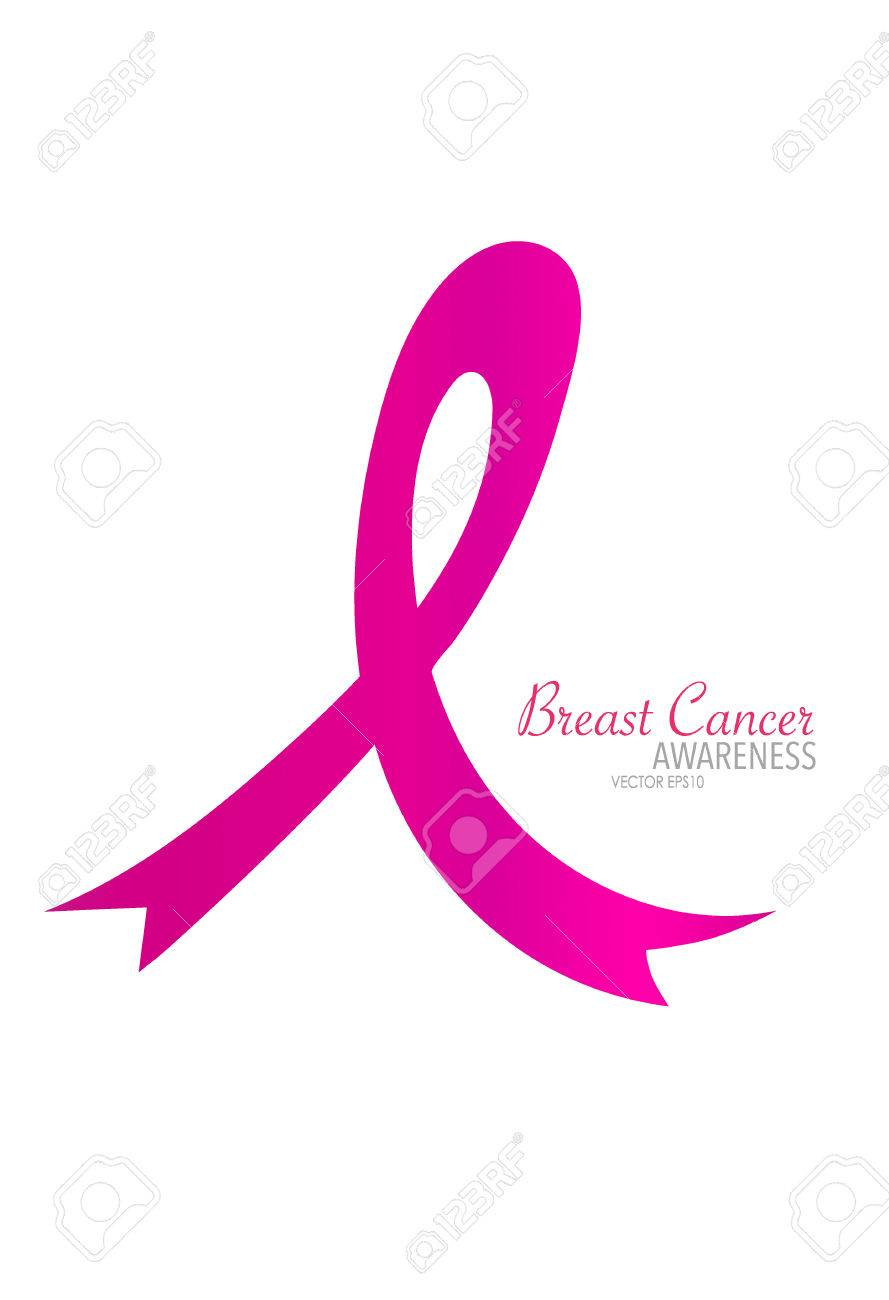 breast cancer awareness pink ribbon vector illustration royalty rh 123rf com breast cancer ribbon vector free breast cancer ribbon vector png